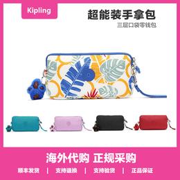 Kipling凯浦林女包零钱包短款手拿包附件方形化妆手挂包 K70109