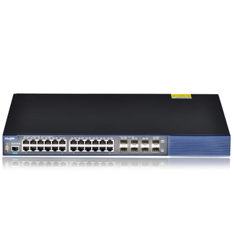 Brand new original ruijie RG-AS324GT 24-port Gigabit layer three switch 24 port 8 optical multiplexing
