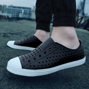 Summer round slip Crocs Baotou couples men and women leisure beach shoes men's sandals sports air personality