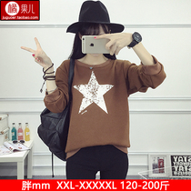 Fat sister winter without a fertilizer to increase size and female fat mm long sleeve cashmere sweater looser slim 200 jacket