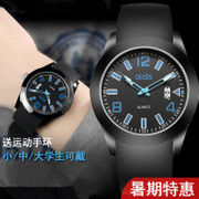 The trend of male and female students watch Korean simple leisure atmosphere electronic watch digital sports waterproof