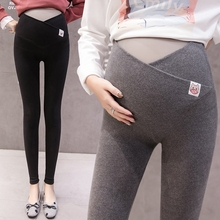 Pregnant women's bottoming pants in autumn and winter, fashionable wear outside, fashionable mother's plush and thickened cross abdominal pants in autumn and winter, pregnancy