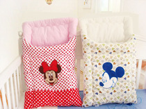 Embroidery held four seasons sleeping bag infant bedding Mickey Mouse multifunctional long cushion storage bag