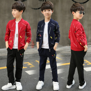 The child movement in the spring and autumn two piece Korean kids boys set 2017 new spring tide clothing children autumn
