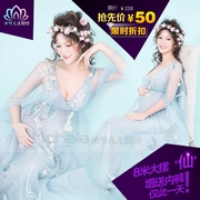 2017 photo studio pregnant women take pictures of clothing, clothing, photo, big belly, mummy art, flower fairy dress rental