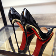 European fashion black 12cm10cm8cm super high heels with a fine silver pointed shoes shoes occupation