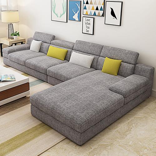 布艺沙发简约北欧大小户型拆洗三人组合沙发客厅整装贵妃转角家具