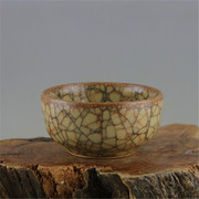 Song Guan kiln gold wire ice glaze glaze bowl to do the old imitation of ancient porcelain in the Song Dynasty porcelain antique antique collection