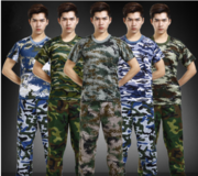 Camouflage suit male students summer T-shirt commando combat uniform military enthusiasts uniformed military training with short sleeves