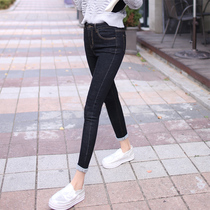2017 summer new style jeans girl Korean version of tight feet nine pants high waist skinny jeans Joker slimming pants