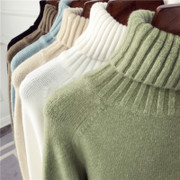 2017 new winter Korean loose turtleneck female long sleeved pullover all-match thick warm knitted shirt
