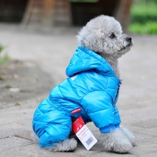 Dog down jacket Teddy pet clothes puppy padded down feather padded four-foot thick dog clothes winter