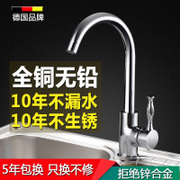 Germany Weilaiya Copper Kitchen Faucet hot vegetable washing basin rotating 304 stainless steel cold sink faucet