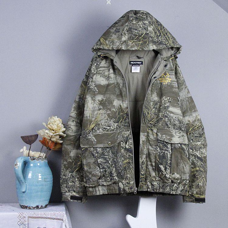 Export single winter, and the wind long sleeve hooded cotton padded jacket cotton camouflage male version