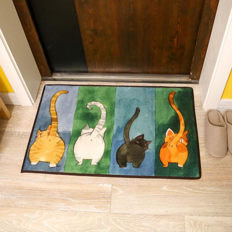 猫咪地垫厨房卧室卫浴浴室吸水防滑垫 门口进门入户门垫门厅脚垫