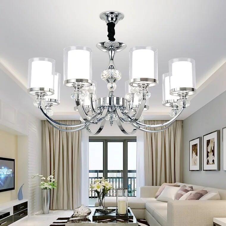 客厅吊灯后现代简约大气水晶餐厅灯卧室设计师灯饰简欧式客厅灯具