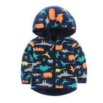 2016 years boys jacket double-sided printing girls hooded sweater and cashmere Cardigan Sweater boys top Korean childrens clothes