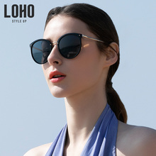 LOHO new sunglasses anti-ultraviolet myopia Sunglasses round face fashion glasses Korean version of tide polarizer
