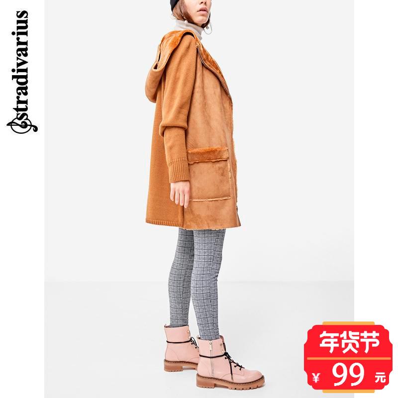 秋冬折扣 Stradivarius 女装 毛绒内里连帽外套 05171463442