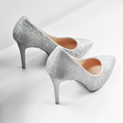 Special offer every day with a fine silver high heels gold glitter scrub sexy wedding shoes shoes documentary work