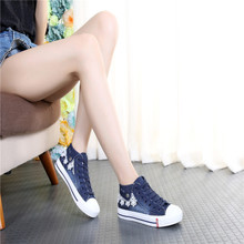 2017 spring and autumn school help casual shoes shoes low tide flat denim canvas shoes shoes