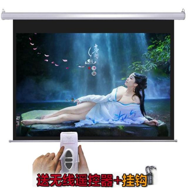 Genuine 84/100/120/150/180/200 inch high-definition electric glass remote control projector screen can be customized