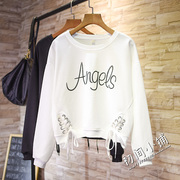 Female student BF ulzzang sweater Korean tide wind new spring loose all-match Harajuku long sleeved turtleneck jacket