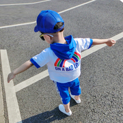 Kids Boys Korean summer short suit 2017 summer new children's leisure male baby cotton two set