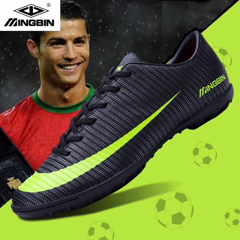C罗刺客足球鞋碎钉男女青少年学生人草成人AG长钉足球训练运动鞋