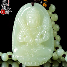 Hetian jade born Buddha Pendant Men and women Zodiac Eight patron saint necklace Putian Naked Bodhisattva Guanyin