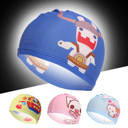 2017 new children's cartoon Cap Unisex swimming cap head color printing spring cap no comfort