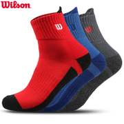 wilson Weir wins 3 pairs of winter loaded thick warm towel at the end of running socks basketball socks men