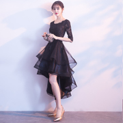 Black dress skirt 2017 new party dress elegant and dignified atmosphere of student party party