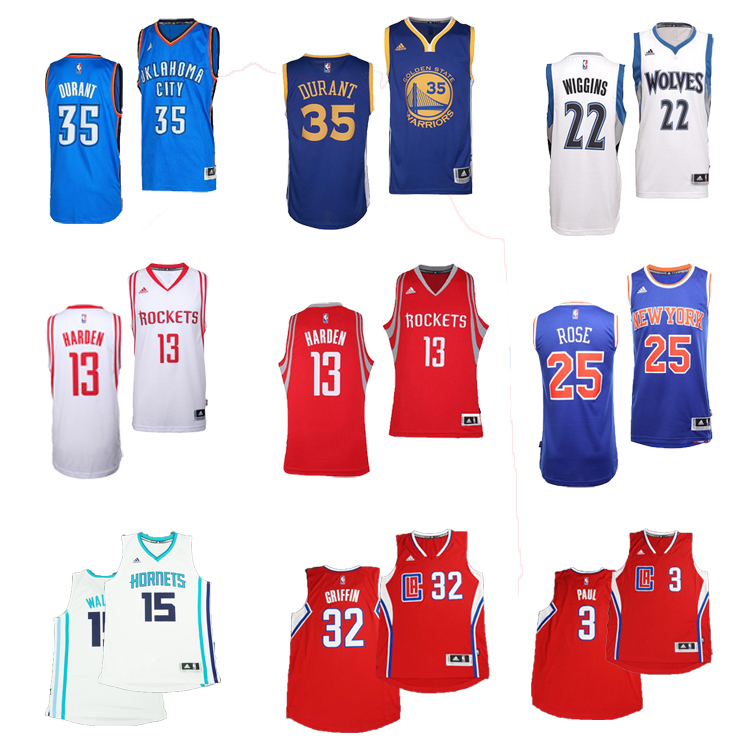 NBA球衣 Swingman 哈登 杜兰特 维金斯 罗斯 保罗 格里芬 沃克