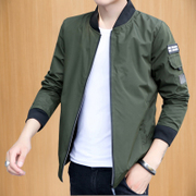 The spring and autumn men's jacket youth baseball uniform trend of Korean leisure gown slim thin coat