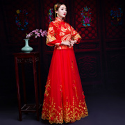 Show 2017 new Chinese wedding clothes Wo Bride Wedding Dress Gown Dress cheongsam wedding dress female dragon toast in autumn