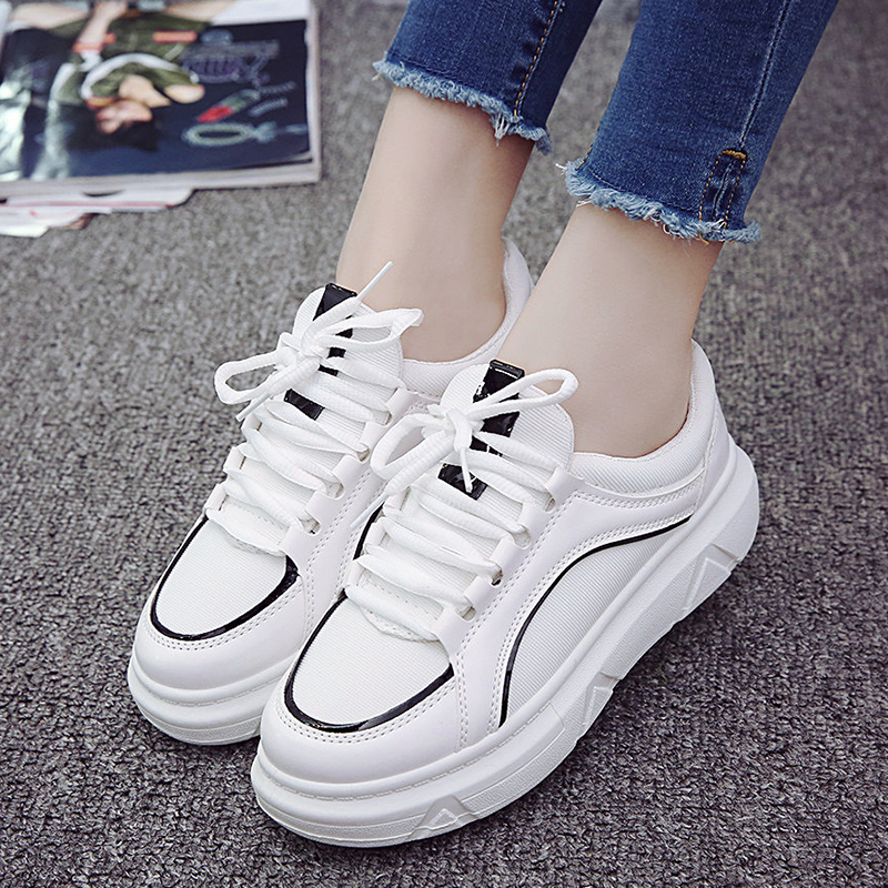 Summer all-match white lace up shoes shoes Korean students canvas shoes soled shoes flat shoes casual shoes