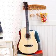 New beginner 38 inches folk acoustic guitar introduction to male and female students practice jita relative novice a full set of accessories