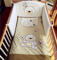 Italy Pali original baby bedding cotton four piece cartoon baby in foreign trade and environmental protection surrounding the bed bedding