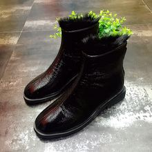 In 2017 the new European mink shoe lining leather station after Terry zipper fashion casual boots Martin boots