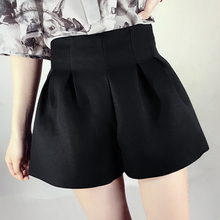 A word wide leg shorts female summer loose thin waist bud leisure code type fluffy bloomers Reku tide