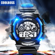 Children's electronic watch boy boy colorful luminous cool waterproof outdoor sports students watch function