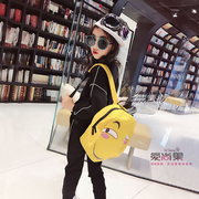 The new spring and summer 2017 cartoon children backpack bag net red double bag big girls canvas bag Mimigo home