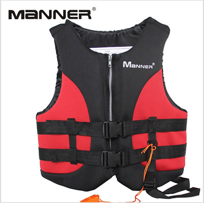 Adult buoyancy vest life jacket fishing vest MANNER diving equipped with whistles 2MM
