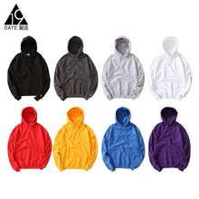 Date 19 Beautiful Champion Hoodies Classic Pure-color Fleece Loose Pullover Couple