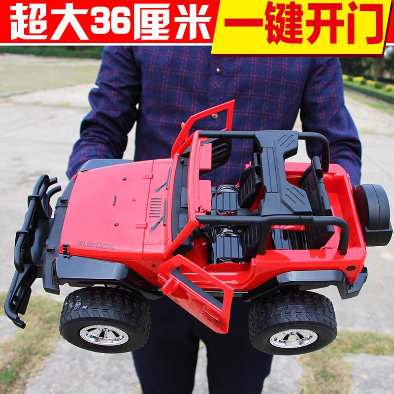 超大型遥控汽车可开门悍马越野车充电动漂移赛车模型男孩儿童玩具