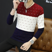 The fall of 2017 new men's sweater Korean sweater hedging V collar sweater coat sweater mens fashion trends
