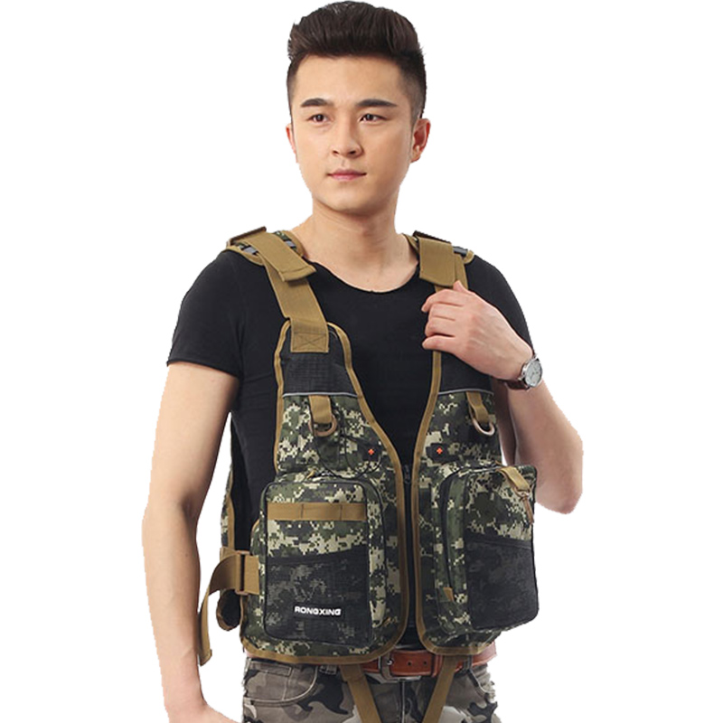 Lure for boat life jacket adult Sea Cliff light drift portable Camo multifunctional foam vest fishing suit vest