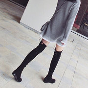 5050 autumn and winter boots knee boots boots boots a female leg stretch in increased knee boots