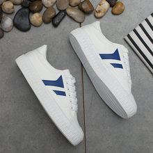 2017 new all-match canvas shoes female student thick shoes Street white shoe summer leisure shoes breathable.